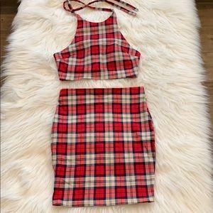 😳Moving Sale/ NakedWardrobe Red Plaid Mini Set